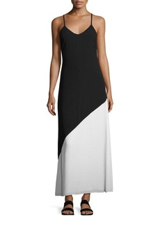 Alice + Olivia Maggie Paneled Slip Maxi Dress