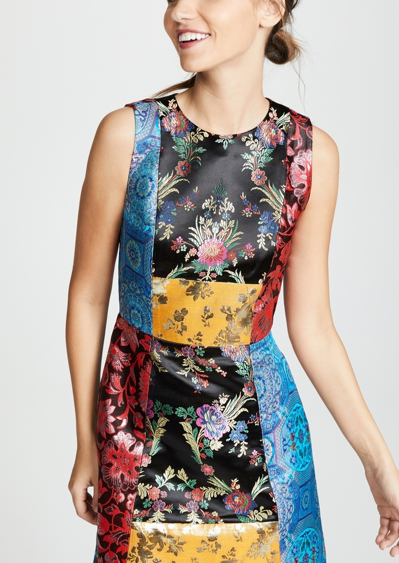 alice + olivia Malin Patchwork Dress