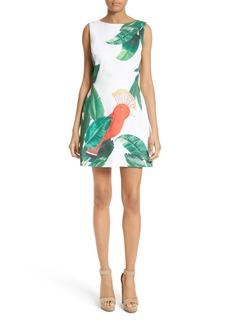 Alice + Olivia Malin Stretch Cotton A-Line Dress
