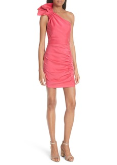 Alice + Olivia Malita One-Shoulder Fitted Mini Dress