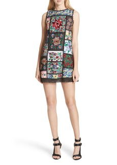 Alice + Olivia Marcelina Embroidered Mini Dress