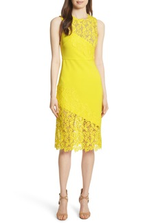 Alice + Olivia Margy Lace Overlay Body-Con Dress