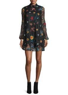 Alice + Olivia Maria Embroidered Lace Dress
