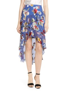Alice + Olivia Mariel High/Low Chiffon Skirt