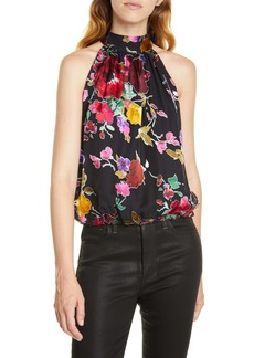 Alice + Olivia Maris Halter Gathered Top