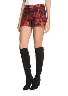 Alice + Olivia Marisa Floral Jacquard Shorts