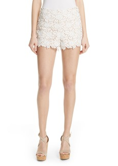 Alice + Olivia Marisa Floral Lace Shorts