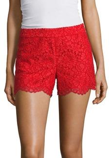 Alice + Olivia Marisa Lace Back Zip Shorts