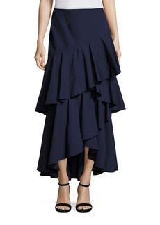 Alice + Olivia Martina Hi-Lo Ruffled Maxi Skirt