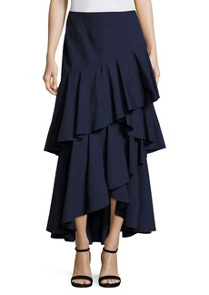 Alice + Olivia Martina Hi-Lo Ruffled Maxi Skirt