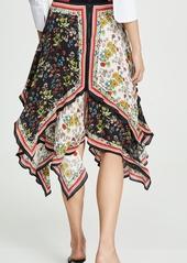 alice + olivia Maura Tiered Handkerchief Skirt