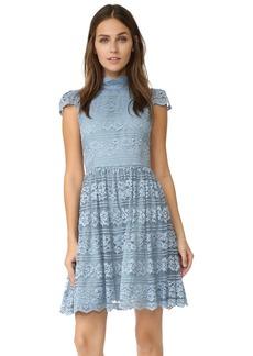 alice + olivia Maureen Cap Sleeve Dress