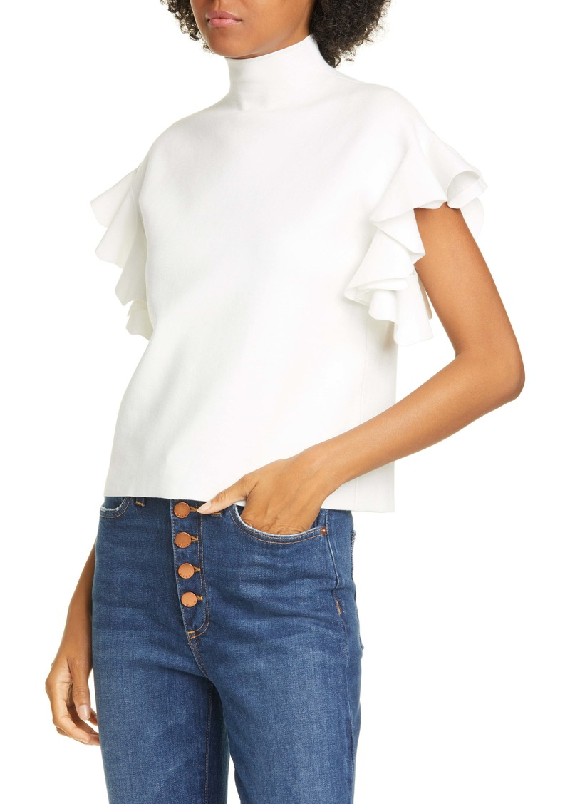 Alice + Olivia Maxine Ruffle Sleeve Sweater