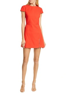 Alice + Olivia Maya Exposed Zip Minidress