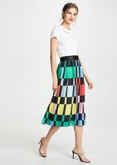 alice + olivia Melda Gathered Midi Skirt