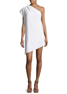 Alice + Olivia Melina One-Shoulder Asymmetric Shift Dress