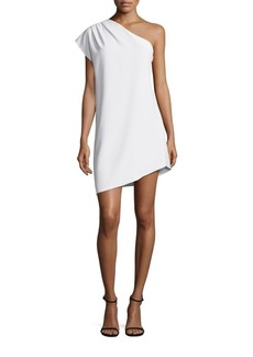 Alice + Olivia Melina One-Shoulder Mini Dress