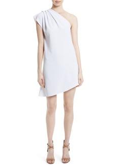 Alice + Olivia Melina One-Shoulder Shift Dress