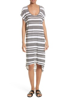 Alice + Olivia Melita Linen Blend T-Shirt Dress