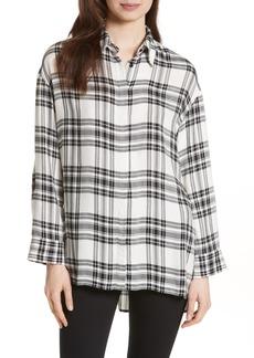 Alice + Olivia Mellie Oversize Roll Cuff Shirt