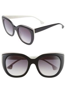 Alice + Olivia Mercer 52mm Cat Eye Sunglasses