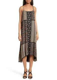 Alice + Olivia Merle Mixed Print Midi Dress