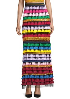 Merrill Embellished Rainbow Maxi Skirt