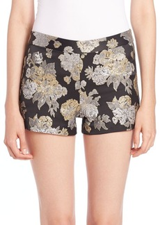 Alice + Olivia Metallic Floral Shorts