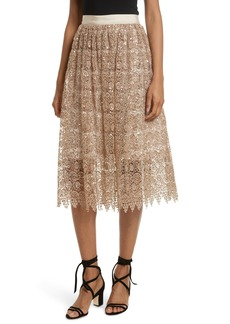 Alice + Olivia Metallic Lace Skirt