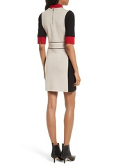 Alice Olivia Mia Contrast Trim Sweater Dress