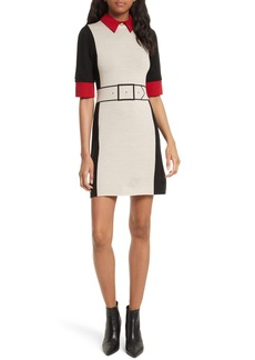 Alice + Olivia Mia Contrast Trim Sweater Dress