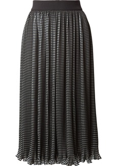 Mikaela checked plissé-chiffon midi skirt
