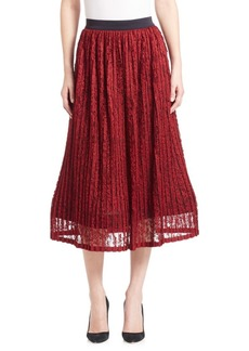Alice + Olivia Mikaela Lace A-Line Midi Skirt