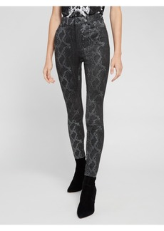 alice + olivia MIKAH SNAKE SKIN LEATHER PANT