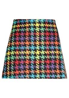 Alice + Olivia Mini Skirt With Maxi Houndstooth