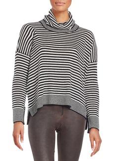 Alice + Olivia Mini Striped Cowlneck Sweater