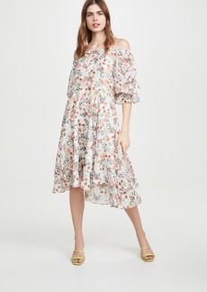 alice + olivia Miora Layered Skirt High Low Dress