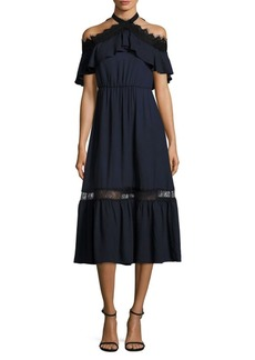 Alice + Olivia Mitsy Off-the-Shoulder Dress