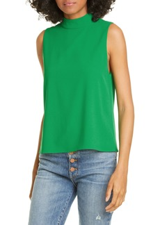 Alice + Olivia Mock Neck Boxy Top