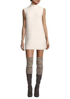 Alice + Olivia Mockneck Cashmere Sweater Dress