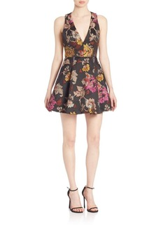 Alice + Olivia Mollie Fit-&-Flare Dress