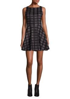 Alice + Olivia Monah Plaid A-Line Dress