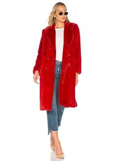 Alice + Olivia Montana Faux Fur Pea Coat