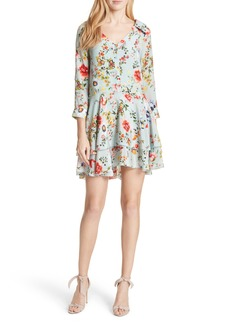 Alice + Olivia Moore Floral Silk Tunic Dress