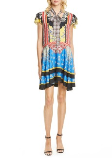 Alice + Olivia Moore Mix Print Minidress