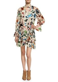Alice + Olivia Moore V-Neck Layered Tunic Dress