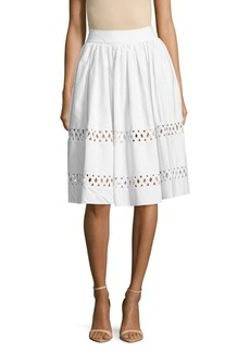 Alice + Olivia Morina Lattice Cotton Skirt