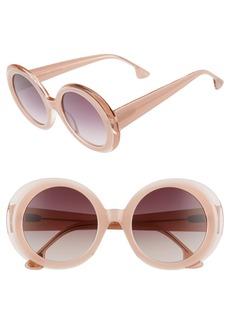 Alice + Olivia Mulholland 52mm Round Gradient Sunglasses