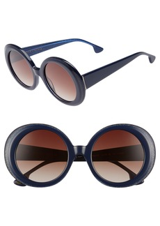 Alice + Olivia Mulholland 52mm Round Gradient Sunglasses