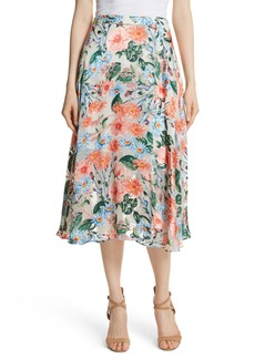 Alice + Olivia Nanette Floral Faux Wrap Skirt